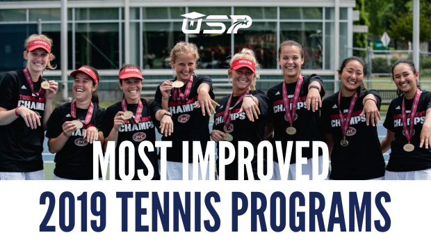 Most Improved 2019 NCAA D1 Tennis Programs